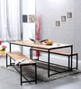 Endako Four Seater Dining Set in Natural Finish by Bohemiana