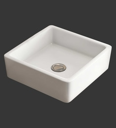 Eros Table Top White Ceramic Wash Basin (Model: Arrow-TT)
