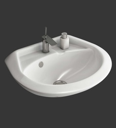 Eros Wall Hung White Ceramic Wash Basin (Model: Cannon-WB)