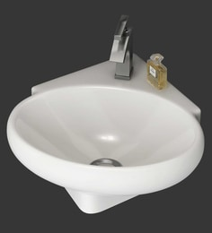 Eros Wall Hung White Ceramic Wash Basin (Model: Kona-WB)
