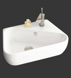 Eros Wall Hung White Ceramic Wash Basin (Model: Nico-WB)