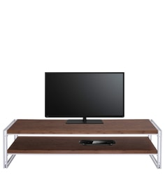 Essen Entertainment Unit In White &Walnut Finish By Evok