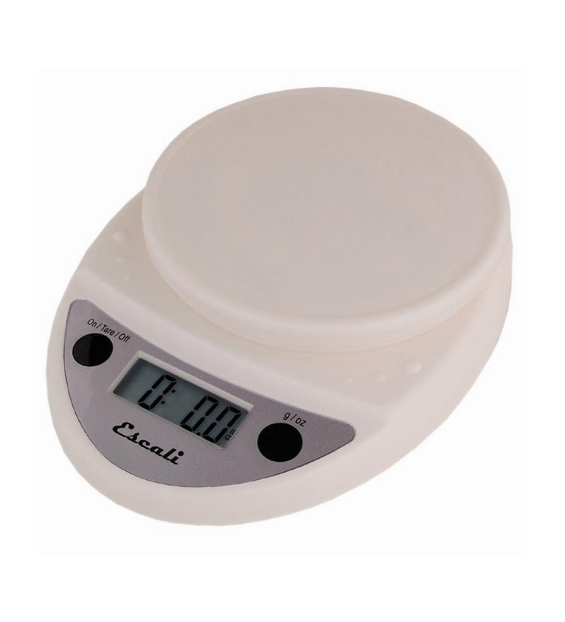 Escali Primo Digital White Plastic Kitchen Scale