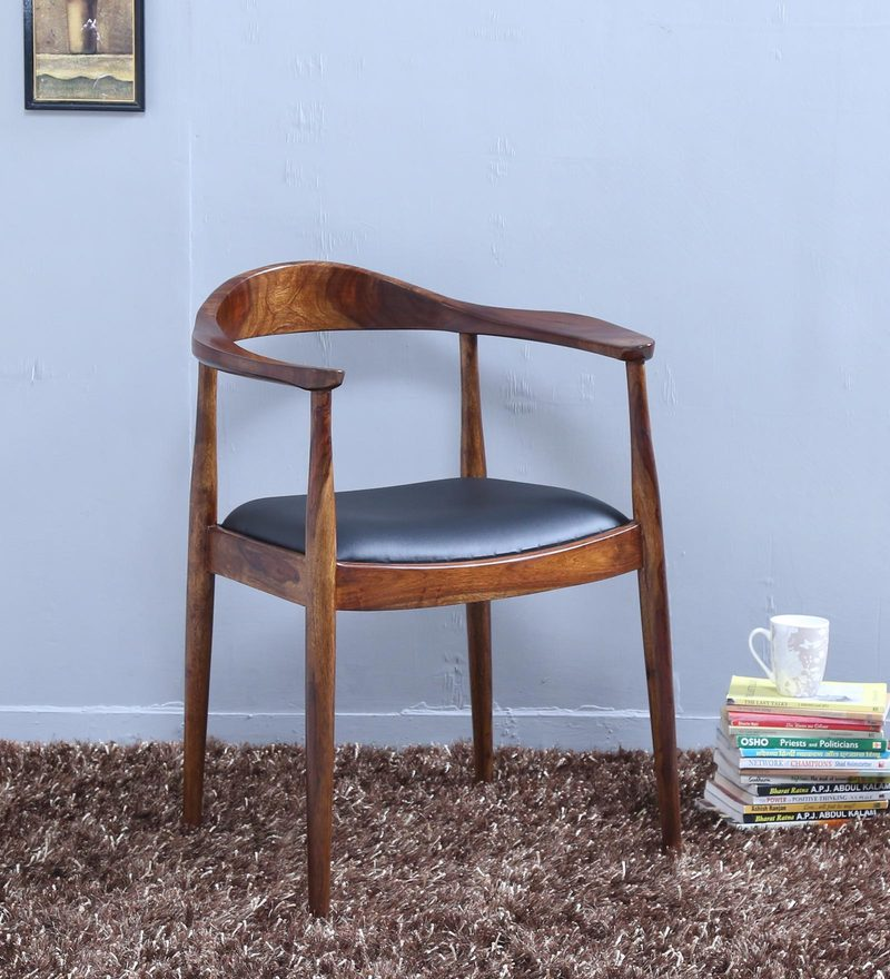 Esvelt Arm Chair in Provincial Teak Finish by Woodsworth