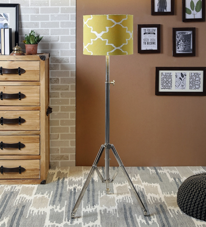 Green Cotton Floor Lamp by Ethnic Roots