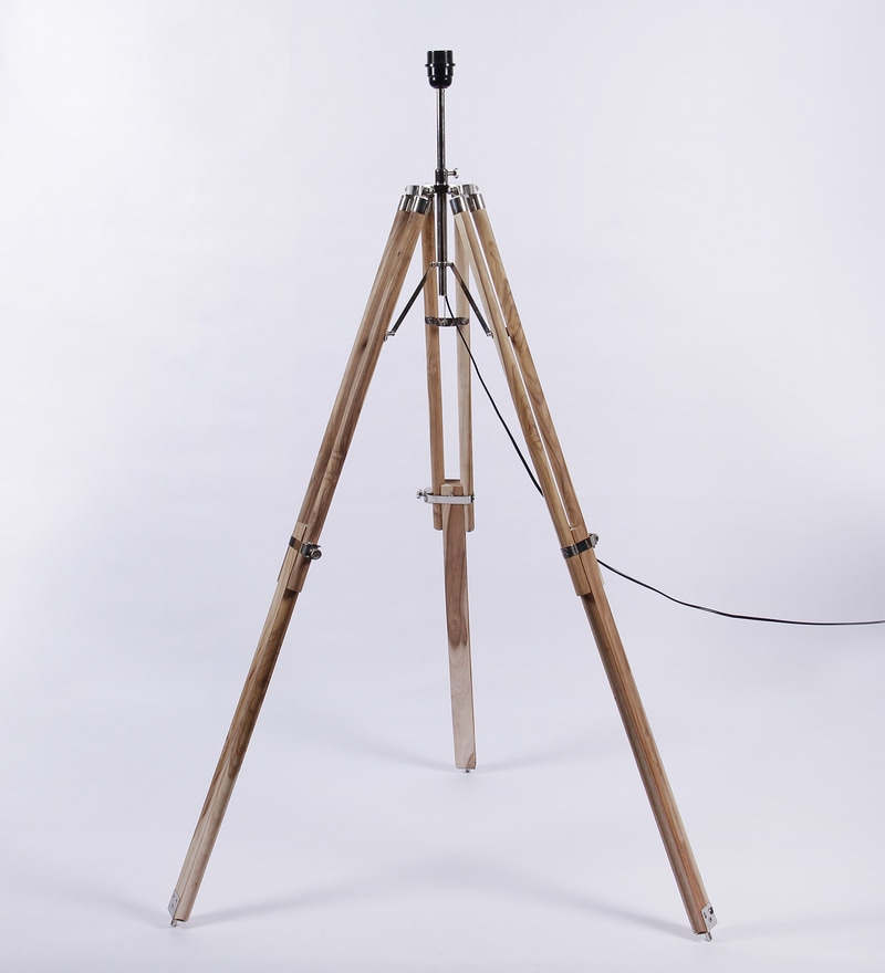 Sheesham Wood Tripod Lamp Base by Ethnic Roots