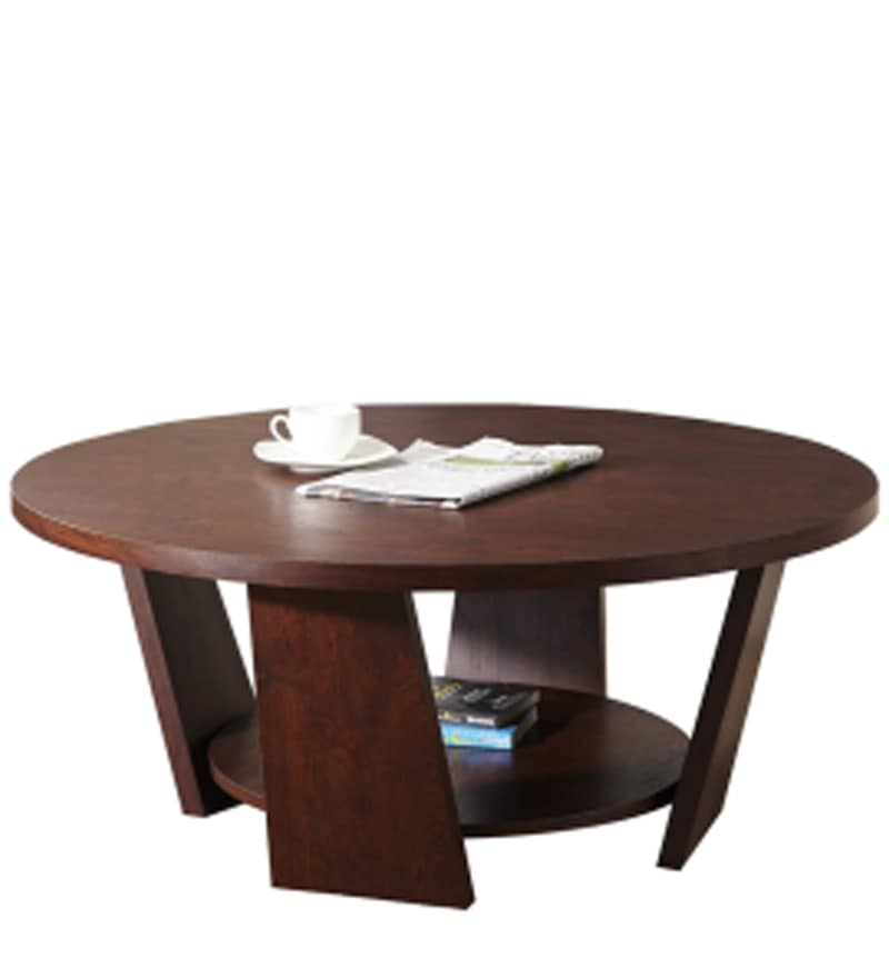 buy ethnic round coffee table in wenge finishexclusive