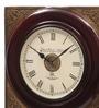 Ethnic Clock Makers Brown MDF & Metal 12 Inch Round  Handmade Wall Clock