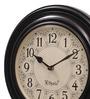 Ethnic Clock Makers Brown MDF & Metal 12 Inch Round Polish Handmade Wall Clock