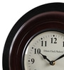 Ethnic Clock Makers Brown Metal & MDF 12 Inch Round Two Tone Polish Wall Clock