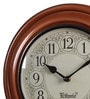 Brown Metal & MDF 12 Inch Round Wall Clock by Ethnic Clock Makers