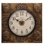 Ethnic Clock Makers Gold MDF & Metal 12 Inch Round Wall Clock
