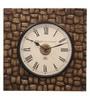 Ethnic Clock Makers Gold MDF & Metal 16 Inch Round Dark-Light Polish Handmade Wall Clock