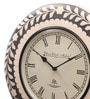 Ethnic Clock Makers White MDF & Metal 16 Inch Round Brass & Copper Fit Handmade Wall Clock