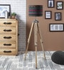 Black Cotton Floor Lamp by Ethnic Roots