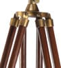 Brown Brass Finish Mango Wood Tripod Floor Lamp by Ethnic Roots