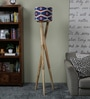 Ethnic Roots Red & Blue Cotton Floor Lamp