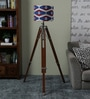 Red & Blue Cotton Tripod Floor Lamp by Ethnic Roots