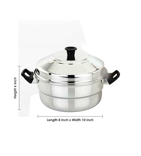 7b885b2885 Buy Euro Style Royal-10 Stainless Steel Idly Cooker 3 Plates (2 ...