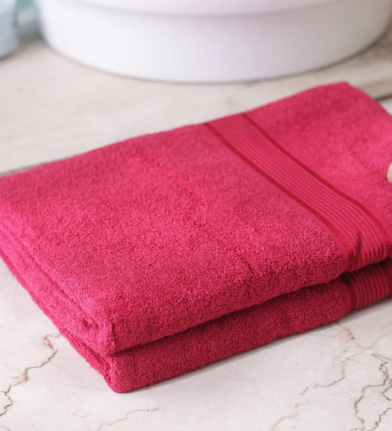 Red Towels Bathroom: Buy Eurospa Paradise Red Cotton Bath Towel