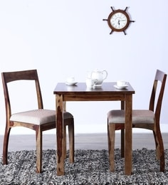 Everson Two Seater Dining Set in Provincial Teak Finish by Woodsworth at pepperfry