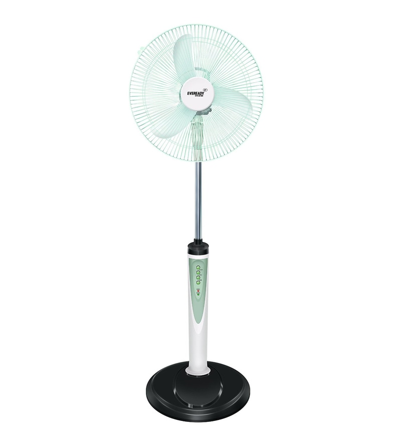 Eveready Rechargeable Pedestal Fan RF05 - 16 Inches (White)