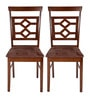 Eva Dining Chair (Set of 2) in Brown Colour by HomeTown