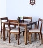 Everson Four Seater Dining Set in Provincial Teak Finish by Woodsworth