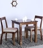 Everson Two Seater Dining Set in Provincial Teak Finish by Woodsworth