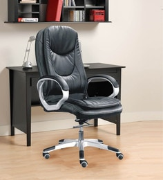 Executive High Back Office Chair In Black Colour ...