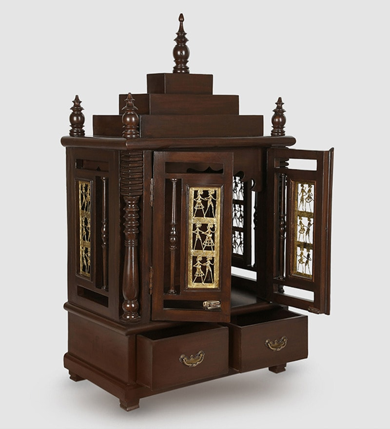 Walnut Teak Wood Temple by ExclusiveLane