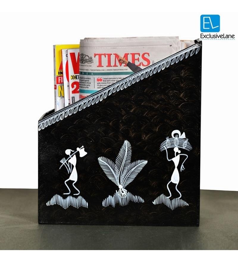 Buy Exclusivelane Warli Art Handpainted Black Wooden 10 5