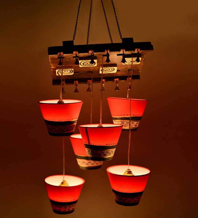 Warli Patch 6 Light Chandelier by ExclusiveLane