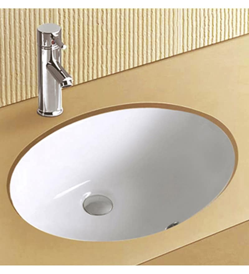 Exor White Ceramic Wash Basin (Model: 3027)