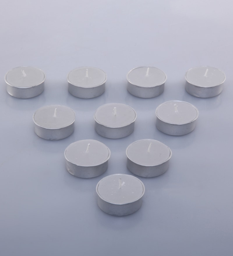 Export T-Light Wax with Ring Rim - Pack of 10 by Gupta Glass Gallery