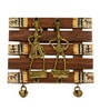 Brown Sheesham Wood & Brass Dhokra & Warli Wall Hanging by ExclusiveLane