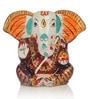 ExclusiveLane Meenakari Multicolored Metallic Lord Ganesha Idol