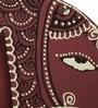 Purple Recycled Wood Hand Painted Elephant Fridge Magnet Cum Photo Frame by ExclusiveLane