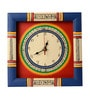 Blue & Red Wooden 10 x 10 Inch Wall Clock by ExclusiveLane
