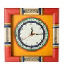 Yellow & Red Wooden 10 x 10 Inch Wall Clock by ExclusiveLane