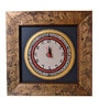 Black & Gold Acrylic & Wood 9 x 9 Inch Wall Clock by ExclusiveLane