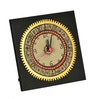 Exclusivelane Black Recycled Wooden Table Clock