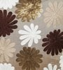 Gold Polyester 16 x 16 Inch Flower Spot Cushion Cover by Eyda