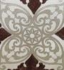 Ivory Polyester 16 x 16 Inch Lasar Cut Aari Cushion Cover by Eyda