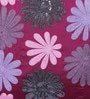 Plum Polyester 16 x 16 Inch Flower Spot Cushion Cover by Eyda