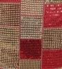 Eyda Red Polyester 16 x 16 Inch Multi Sequin Velvet Cushion Cover