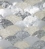 Silver Polyester 16 x 16 Inch New Glamour Cushion Cover by Eyda