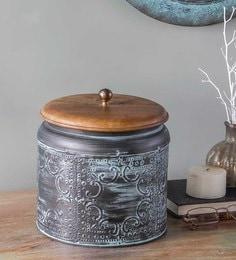 Fabuliv Paulsen Vintage Metallic Green Storage Box