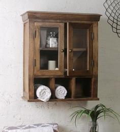 Fabuliv Solid Wood Double Door Bathroom Cabinet