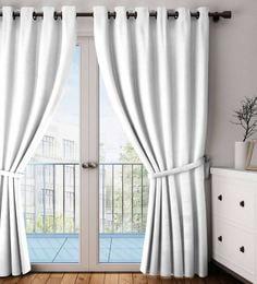 Faux Silk Blackout 7.5 Feet Door Curtain